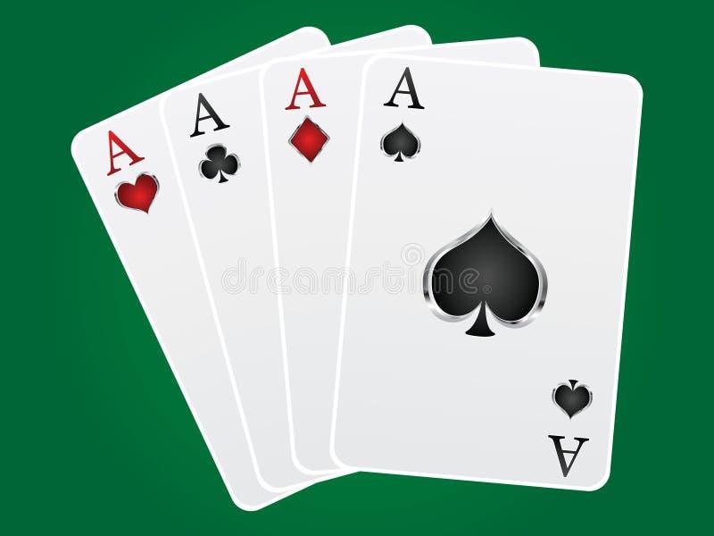 Aces карточные игры Стоковое Изображение RF