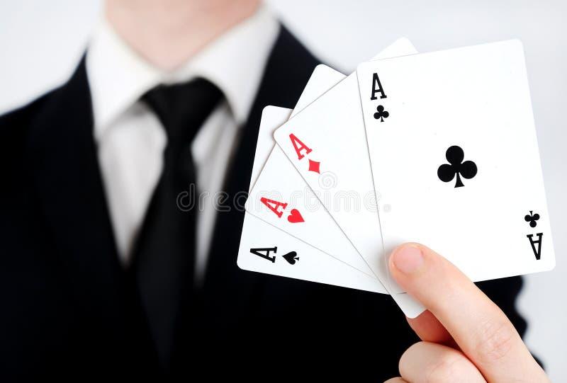 4 aces stock photos