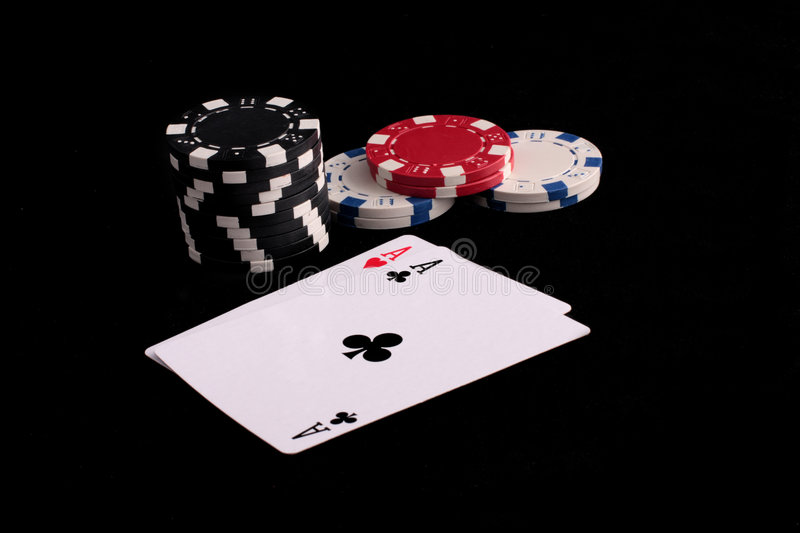 Aces And Chips Royalty Free Stock Photos