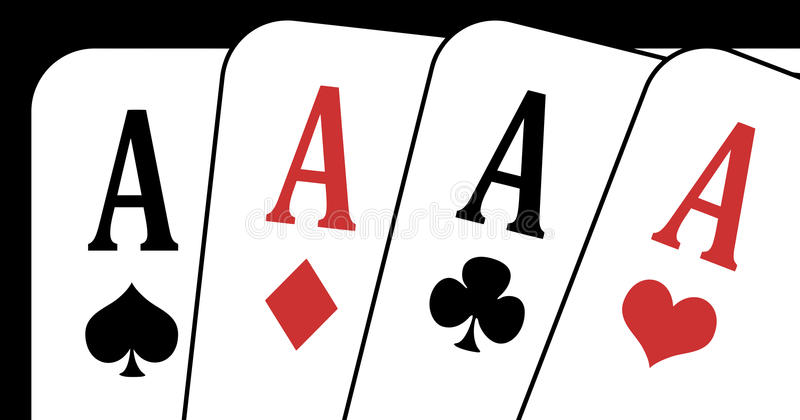 Download Aces closeup stock vector. Illustration of four, closeup - 9681921