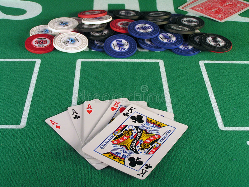 Aces Full Of Kings Royalty Free Stock Photos