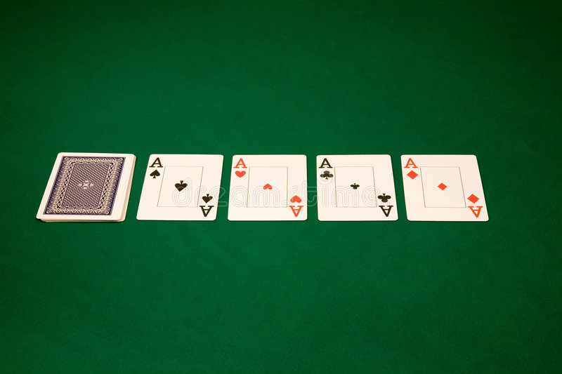 Download Aces On A Green Table Stock Images - Image: 6777124