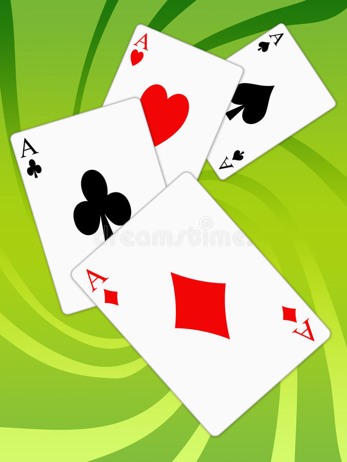 Aces poker vector illustration