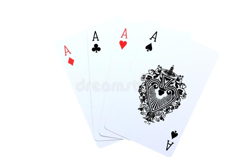4 Aces Poker Cards Royalty Free Stock Image