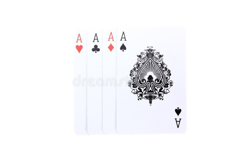 4 Aces Poker Cards Stock Photos