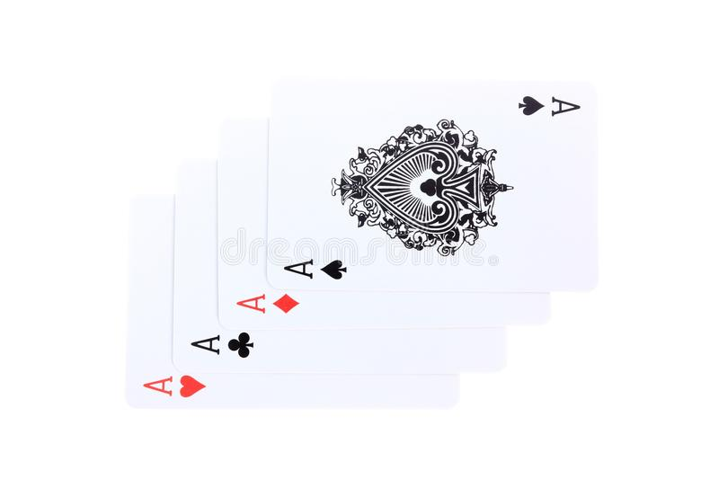 Download 4 Aces poker cards stock photo. Image of gambling, gamer - 36687328