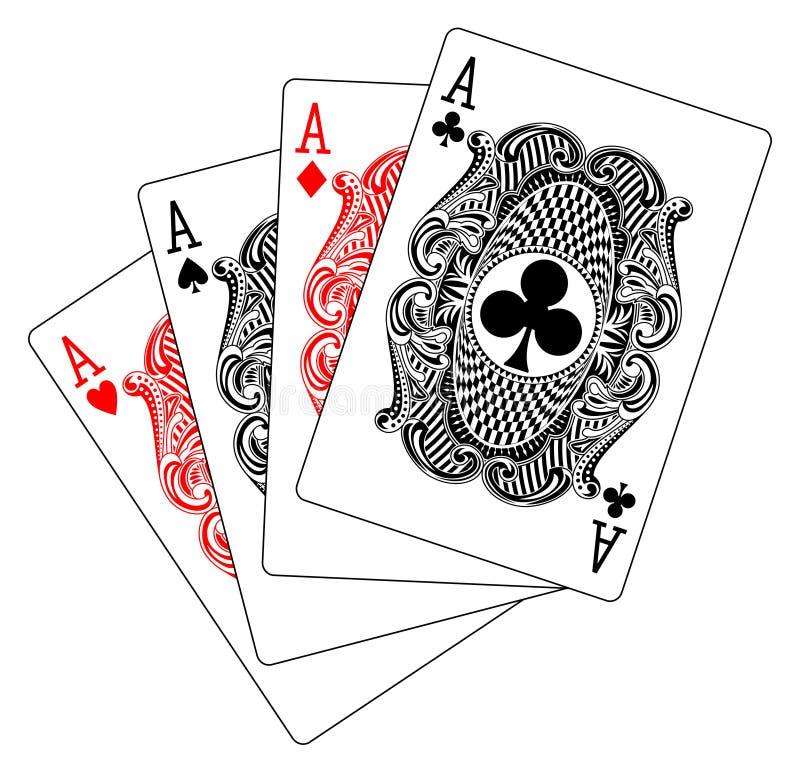 Download Aces Poker Heart Spade Diamond Club Stock Vector - Image: 21748060