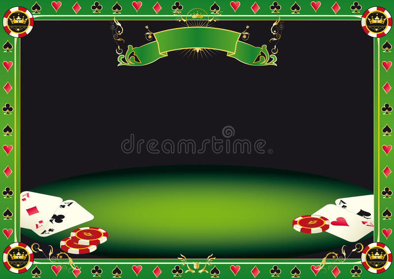 Aces on the table stock illustration