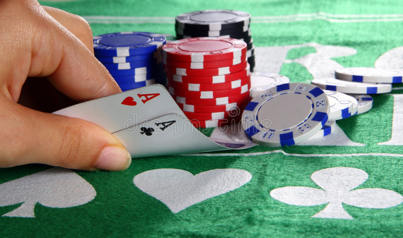 Aces In Texas Hold'Em royalty free stock images