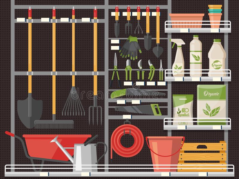 Acessório da horticultura e equipamento do jardineiro ilustração do vetor