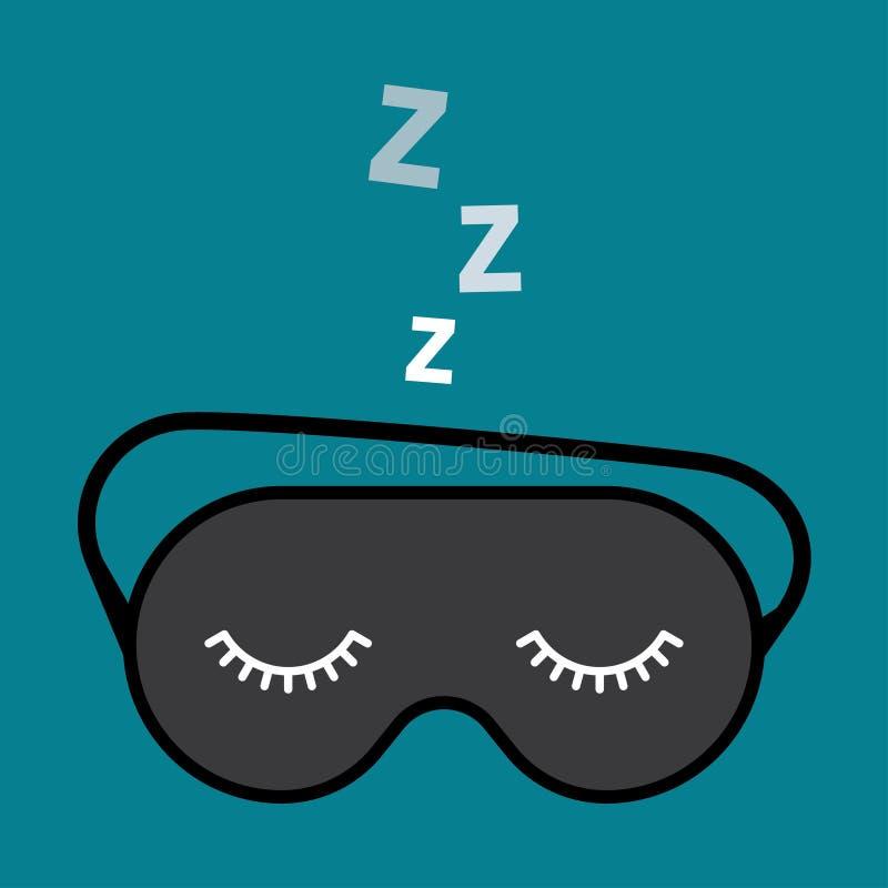 Acessório da noite a dormir ilustração royalty free