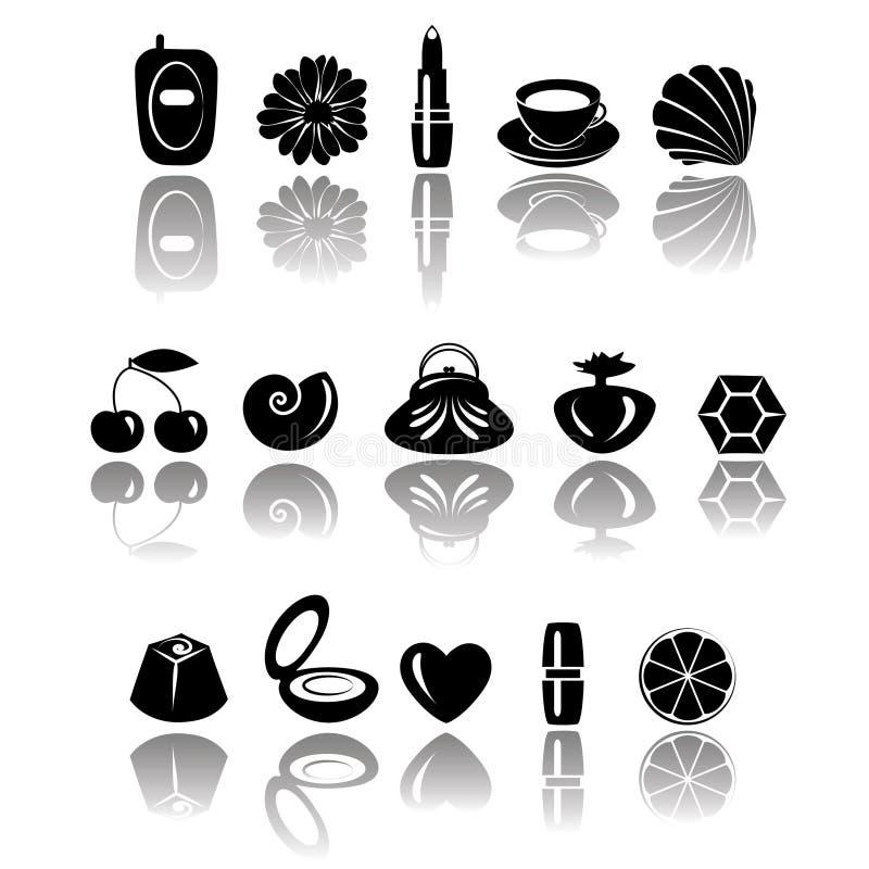 Acessórios & doces ilustração royalty free