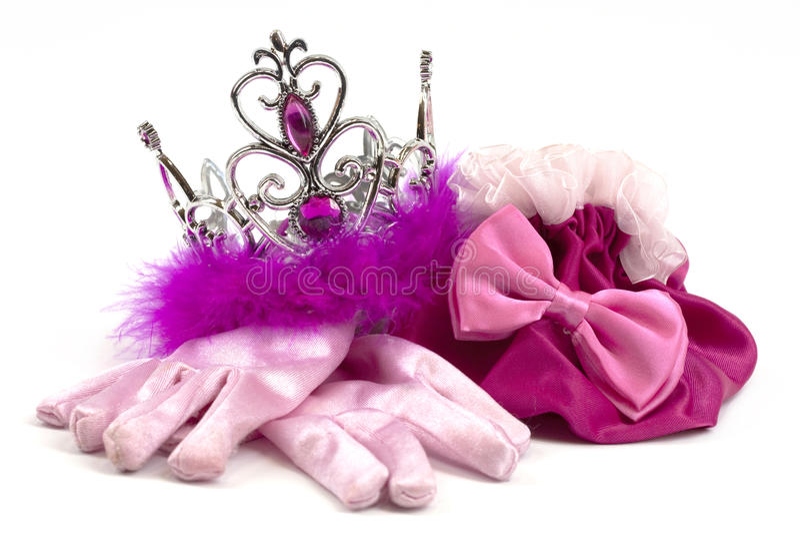 Acessórios cor-de-rosa da princesa imagem de stock royalty free