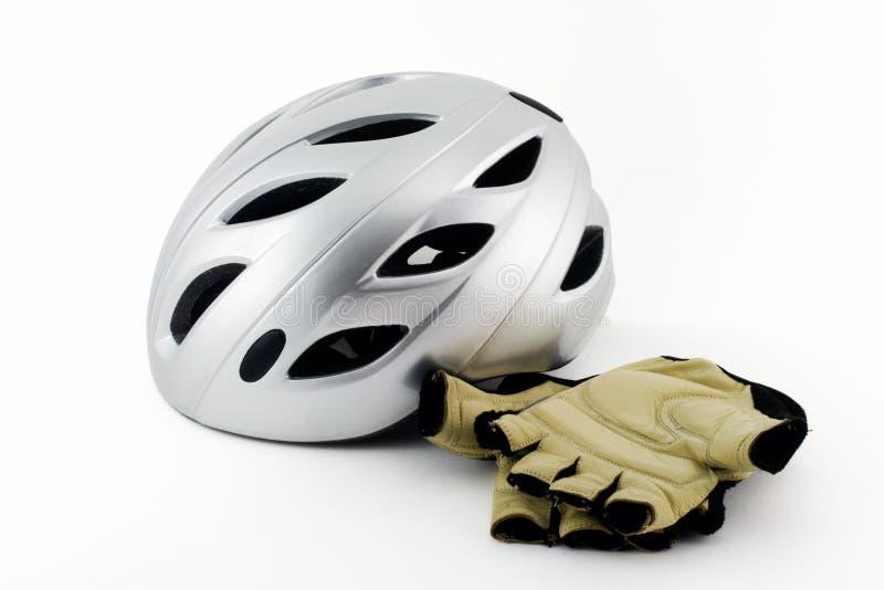 Acessórios da bicicleta. imagens de stock royalty free