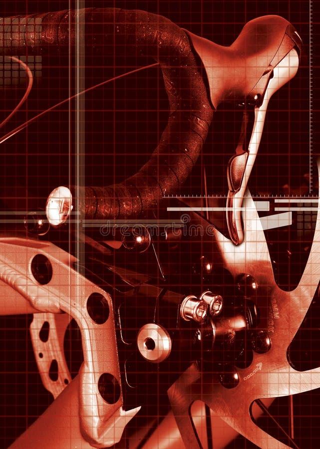 Acessórios da bicicleta fotografia de stock