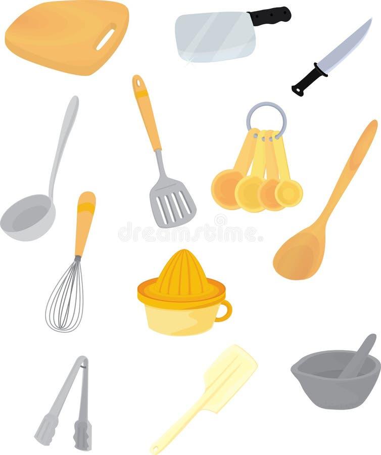 Acessórios da cozinha ilustração royalty free