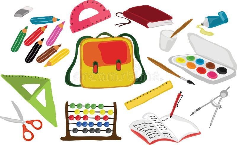 Acessórios da escola ilustração stock