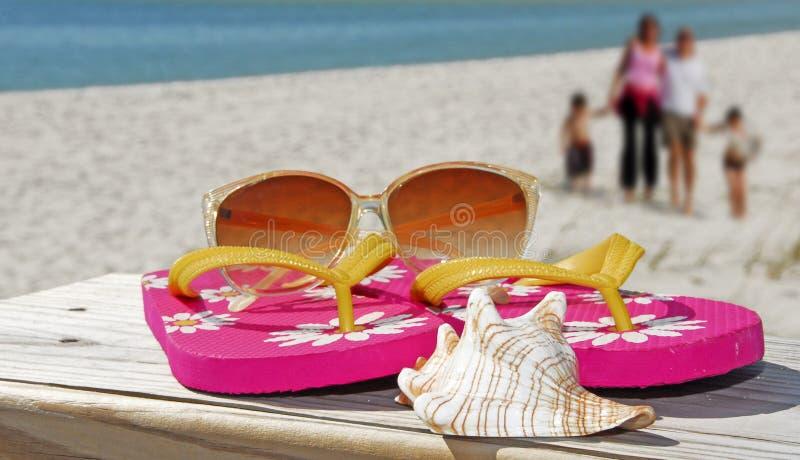Acessórios da praia fotografia de stock