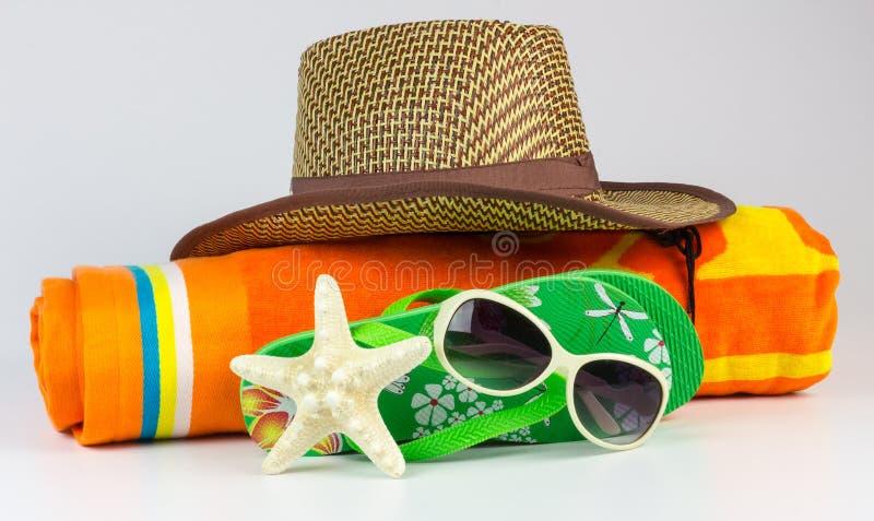 Acessórios da praia imagens de stock royalty free