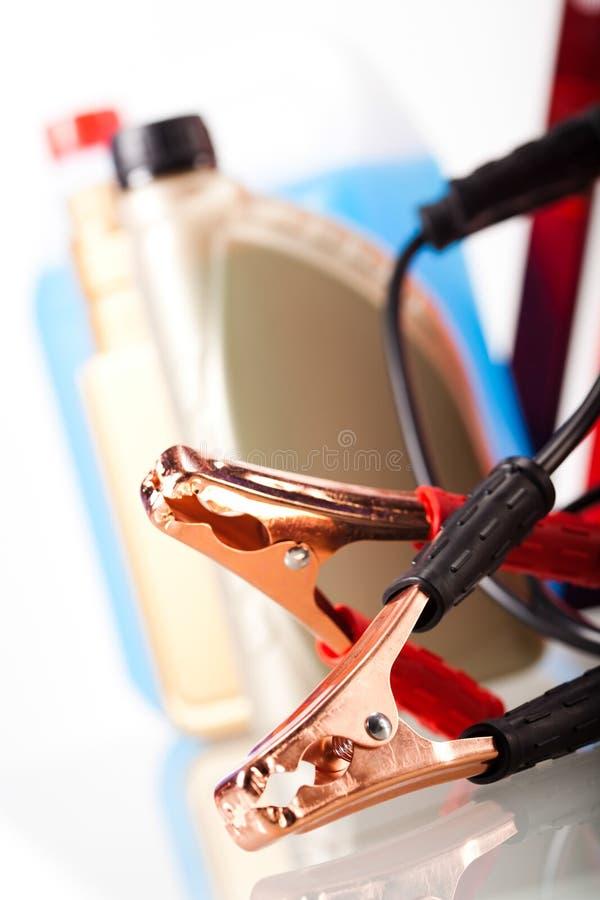 Acessórios das peças no conceito vívido do moto imagens de stock