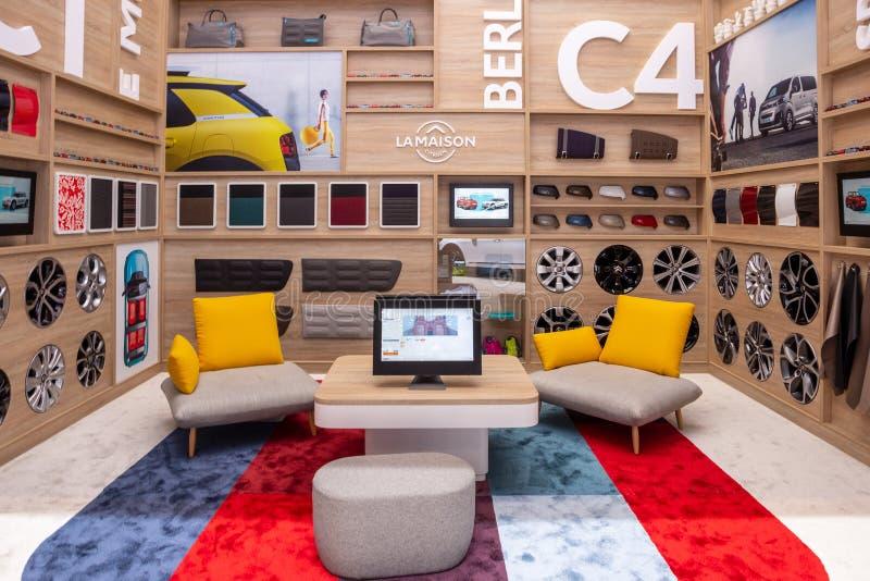 Acessórios de Citroen e sala da sala de estar da mercadoria fotografia de stock royalty free
