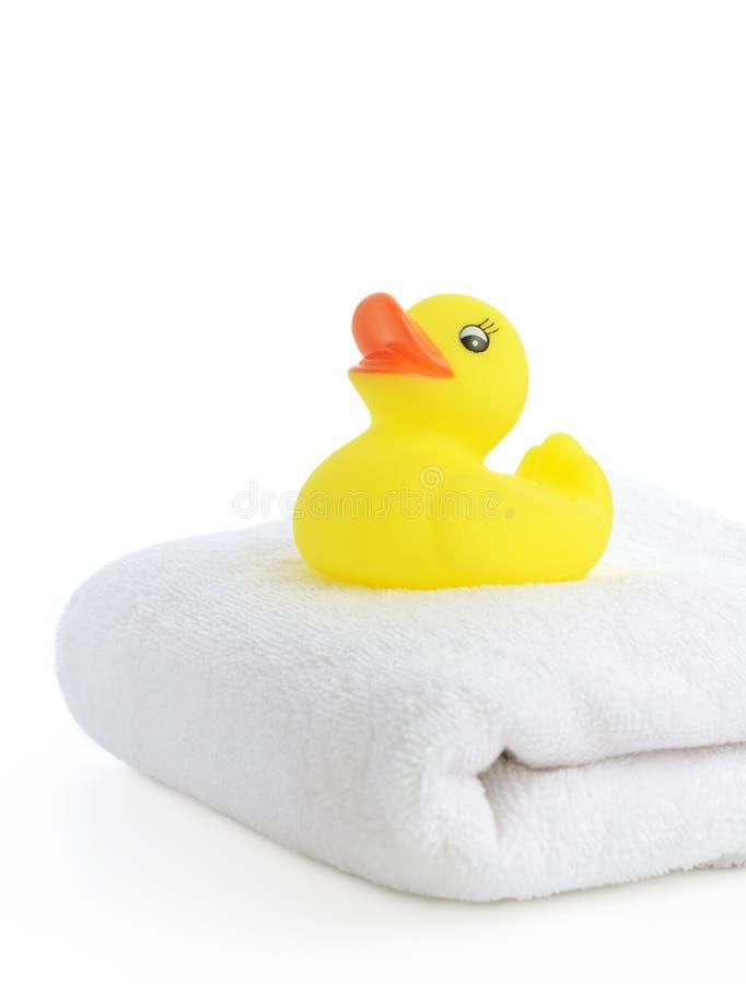 Acessórios do banho. Toalhas de banho imagem de stock royalty free