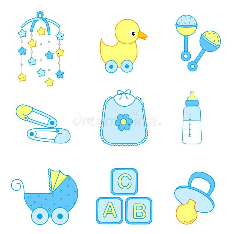 Acessórios do bebé ilustração royalty free