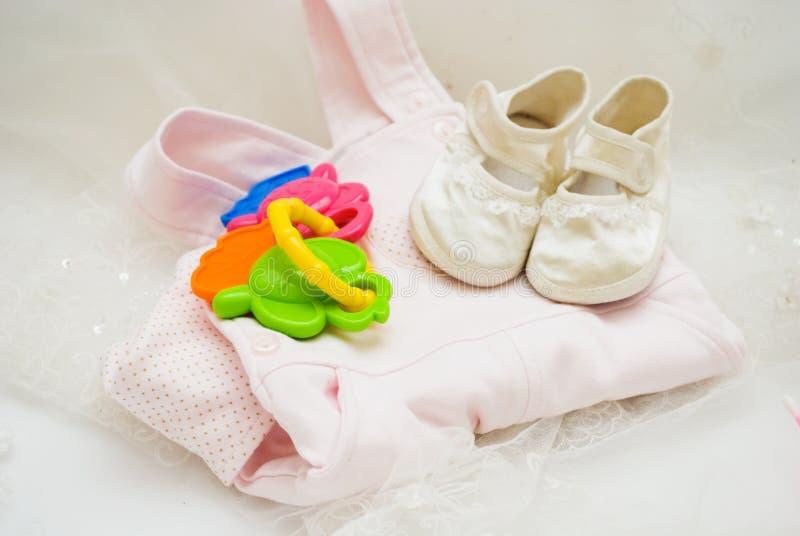 Acessórios do bebê fotografia de stock