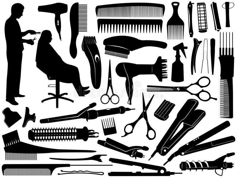 Acessórios do cabelo ilustração stock