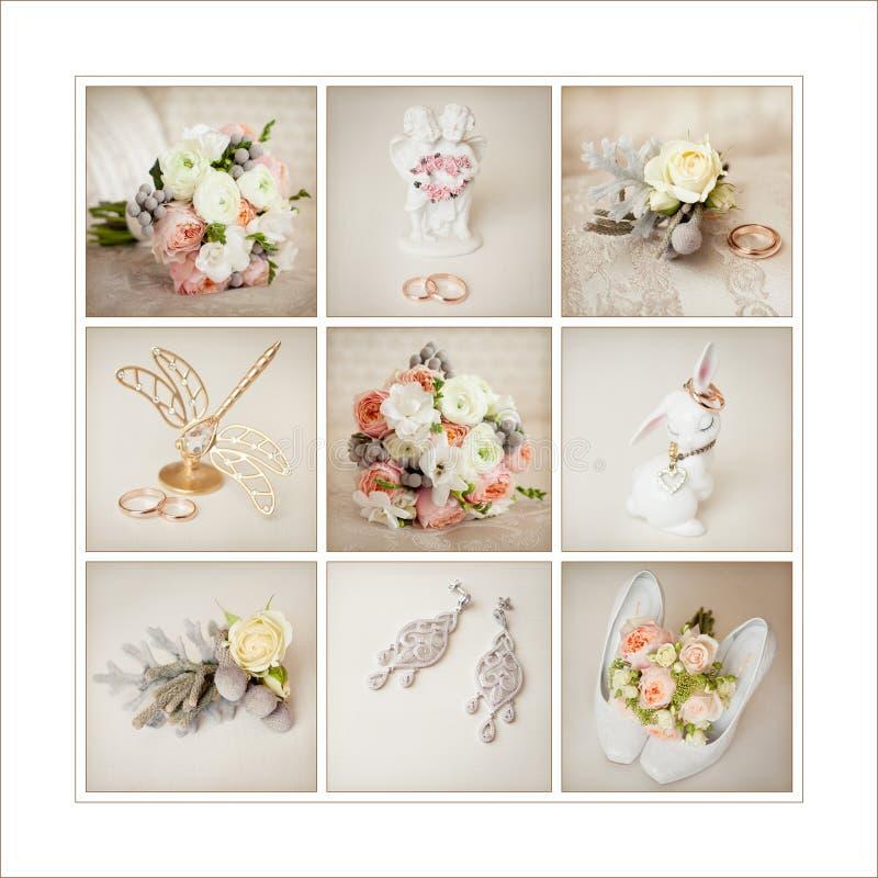 Acessórios do casamento do ` s da noiva foto de stock royalty free