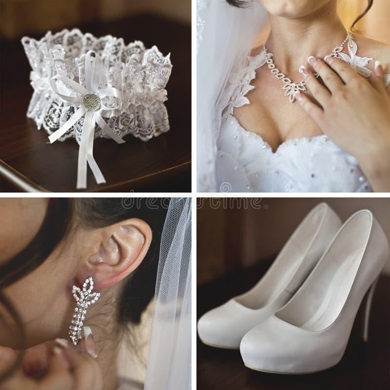 Acessórios do casamento, noiva fotografia de stock
