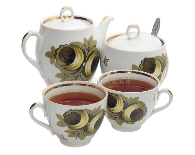 Acessórios do chá fotos de stock