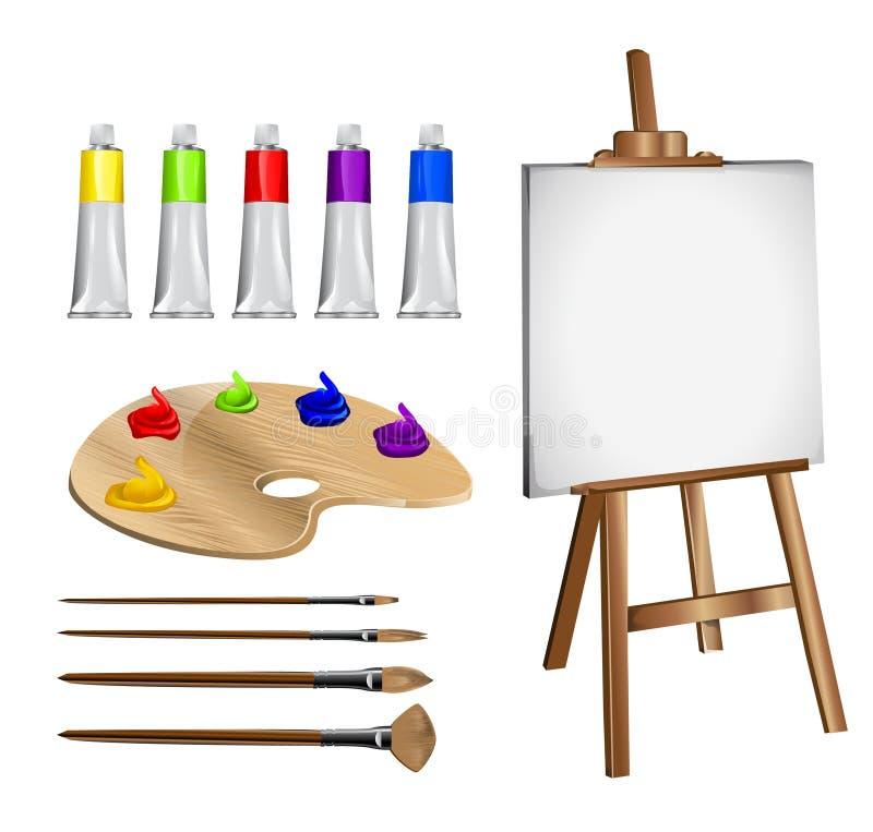 Acessórios do desenho ilustração stock