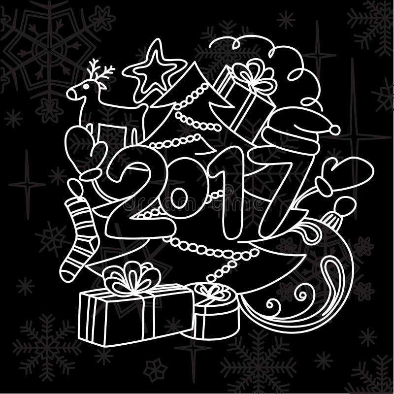 Acessórios do inverno da imagem Ano novo 2017 e Natal foto de stock