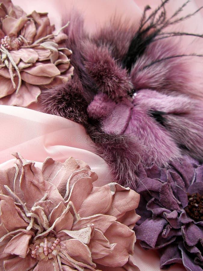 Acessórios do Lilac fotografia de stock royalty free