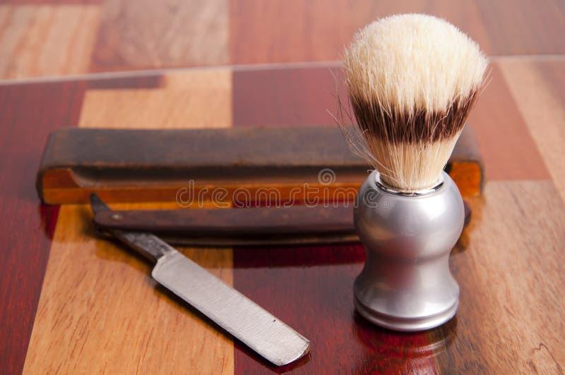 Acessórios do shave do `s do homem fotos de stock