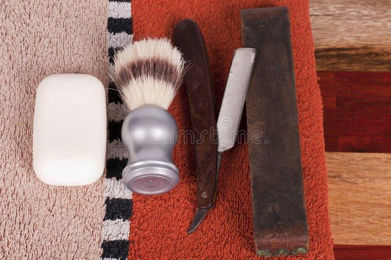 Acessórios do shave do `s do homem fotografia de stock