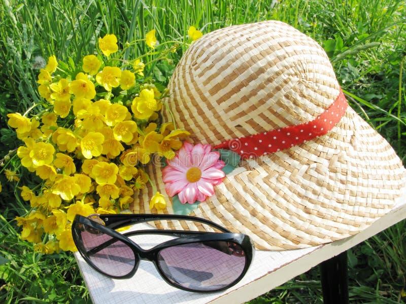 Acessórios do verão fotografia de stock royalty free
