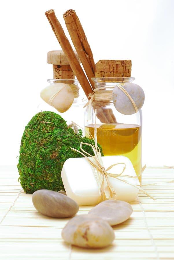 Acessórios dos TERMAS para o wellness ou o relaxamento foto de stock
