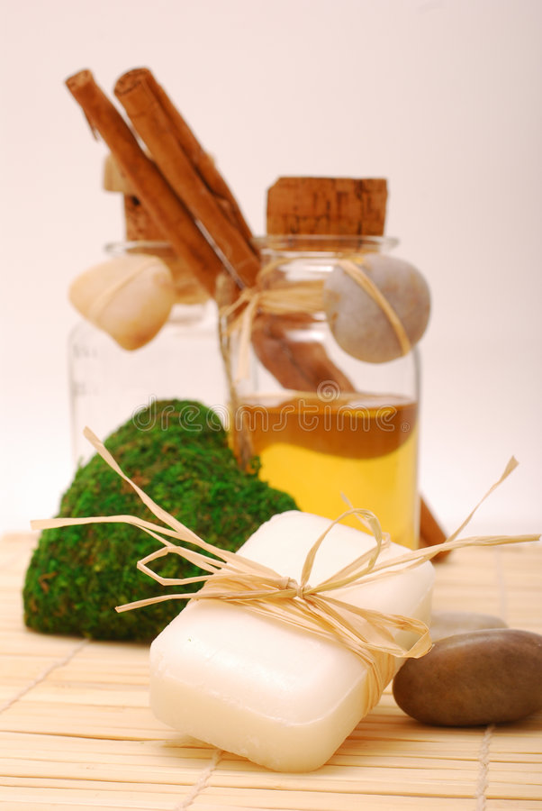 Acessórios dos TERMAS para o wellness ou o relaxamento fotos de stock