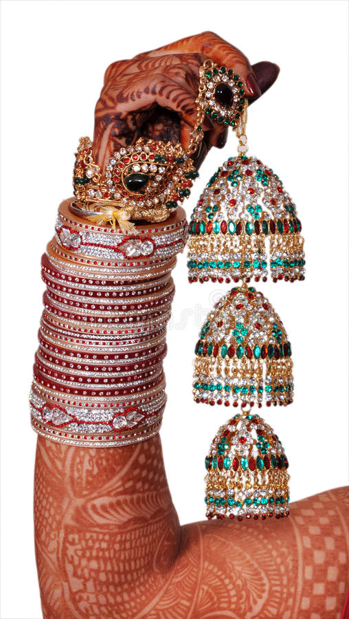 Acessórios indianos do casamento fotografia de stock royalty free