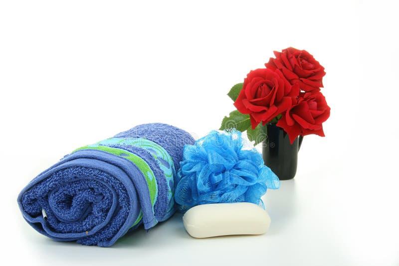 Acessórios, massagem e repouso dos termas foto de stock