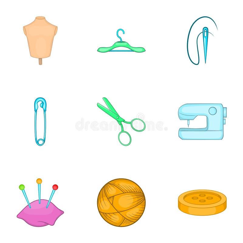 Download Acessórios Para Costurar Os ícones Da Oficina Ajustados Ilustração do Vetor - Ilustração de compra, produtos: 80100996