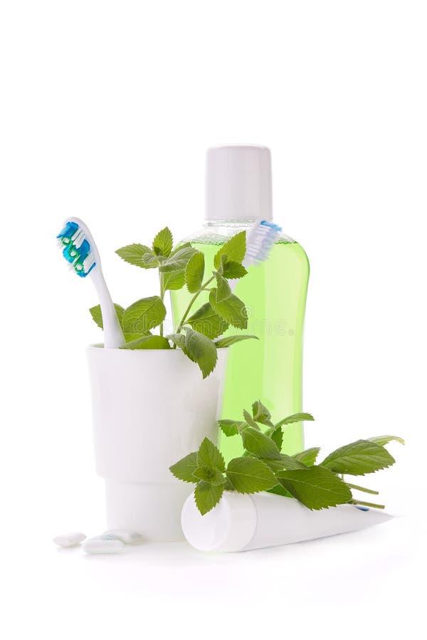 Acessórios para limpar dos dentes Higiene oral fotografia de stock