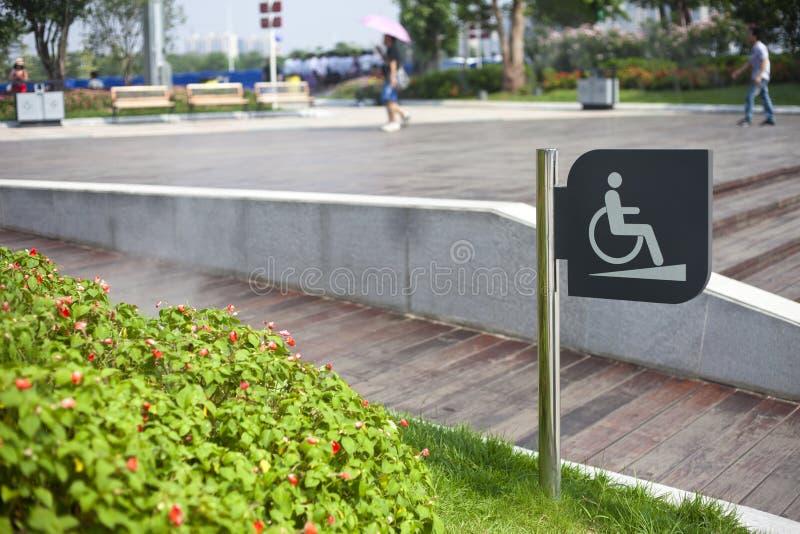 Acesso da cadeira de rodas imagem de stock