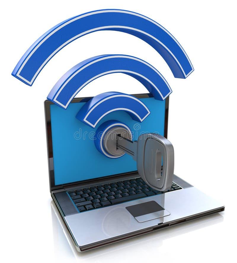 Acesso de Wifi Conceito da rede wireless ilustração do vetor