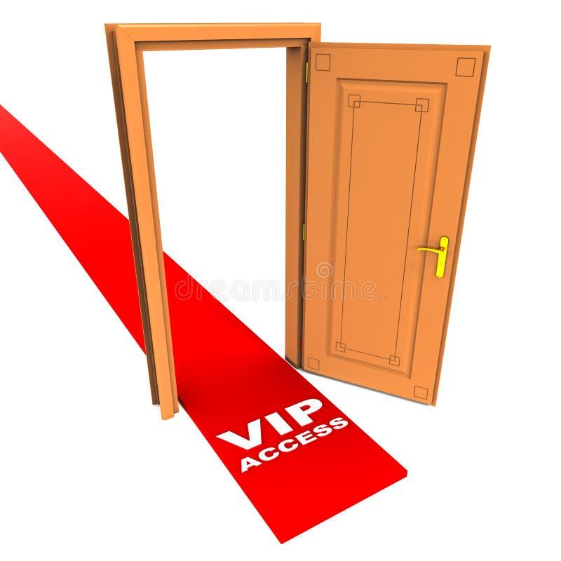 Acesso do Vip ilustração stock