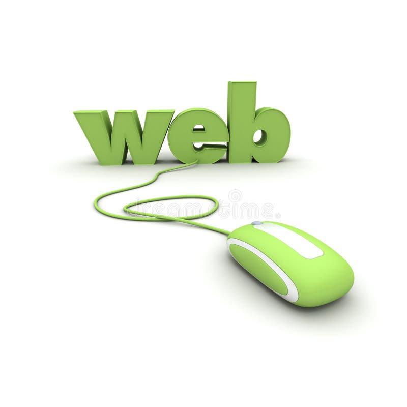Acesso do Web ilustração royalty free