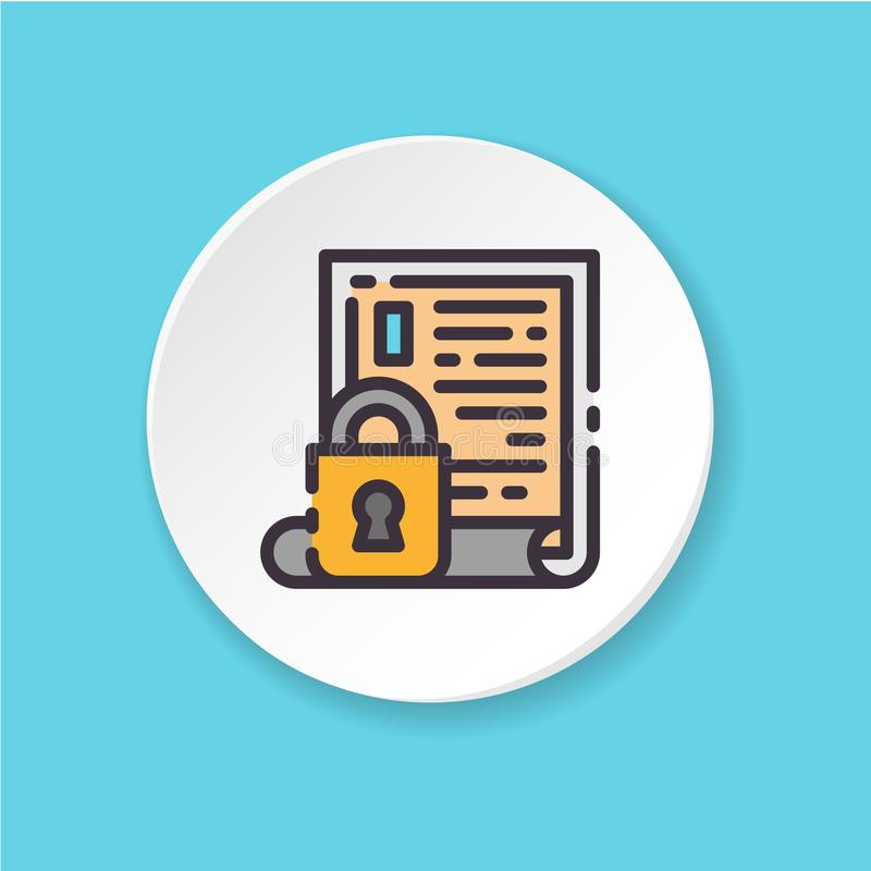 Acesso fechado do ícone liso do vetor Informação onfidential do ¡ de Ð ilustração do vetor