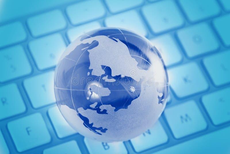 Acesso global através do Internet fotografia de stock